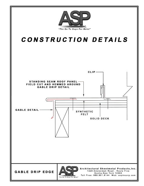Construction Details Architectural Sheetmetal Products