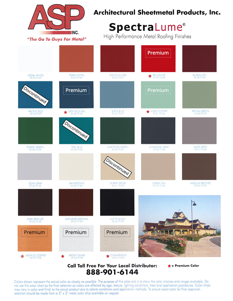 Color Charts Architectural Sheetmetal Products