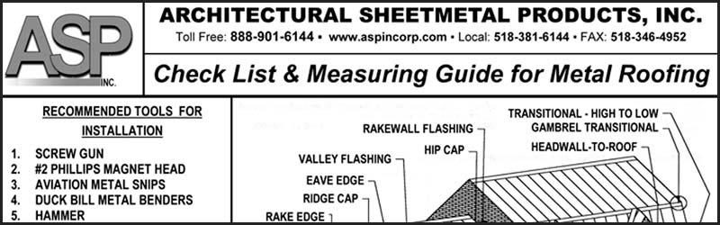 How To Measure A Metal Roof Architectural Sheetmetal Products